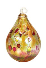 "Glass Eye Studio ORNAMENT (RAINDROP, 3.5""D.)"