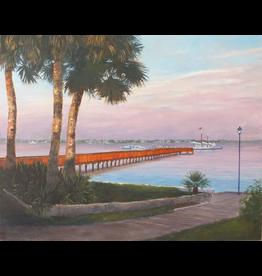 Ruthann Hewson Stuart Docks (Giclee, Framed, 22x28, RUTH)