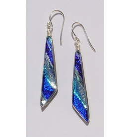 Renaissance Glass COMET EARRINGS (Dichroic Art Glass, Assorted Colors, #260)