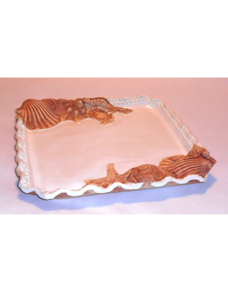 Charlestowne Porcelaine TRAY (Beaded, SQ, Md, #5)