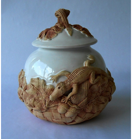 Charlestowne Porcelaine COOKIE JAR (Gator, Lg, #50L, CHAP)
