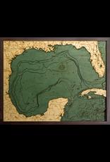 WoodCharts Gulf of Mexico (Bathymetric 3-D Nautical WOODCHART)