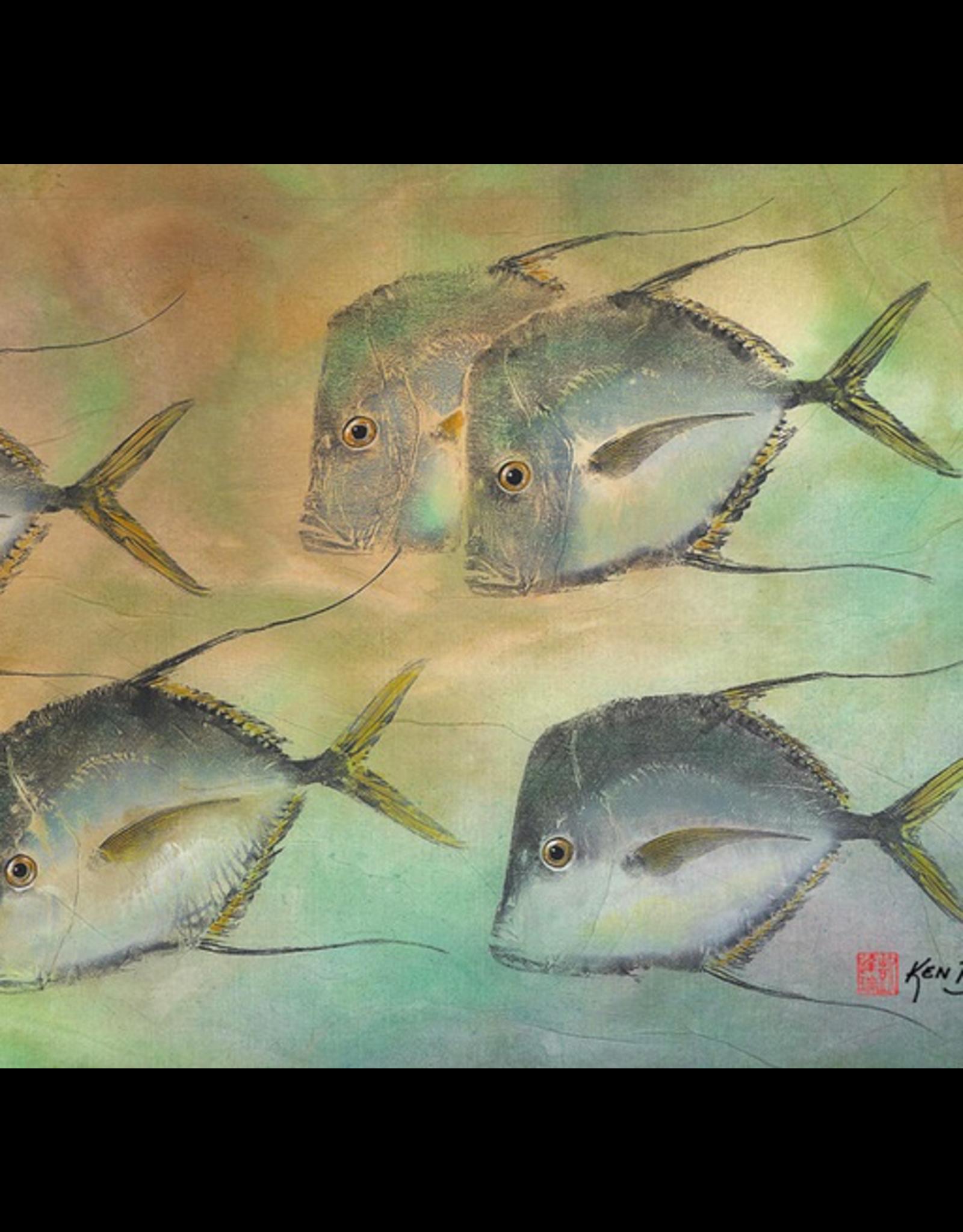 Ken Dara SINGLE FISH PRINT (Gyotaku, Asstd., 8x10 Frame, KEND)
