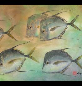 Ken Dara SINGLE FISH PRINT (Gyotaku, Asstd., 8x10 Frame)