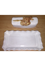 Charlestowne Porcelaine DISH (Butter, w/Lid, #226, CHAP)