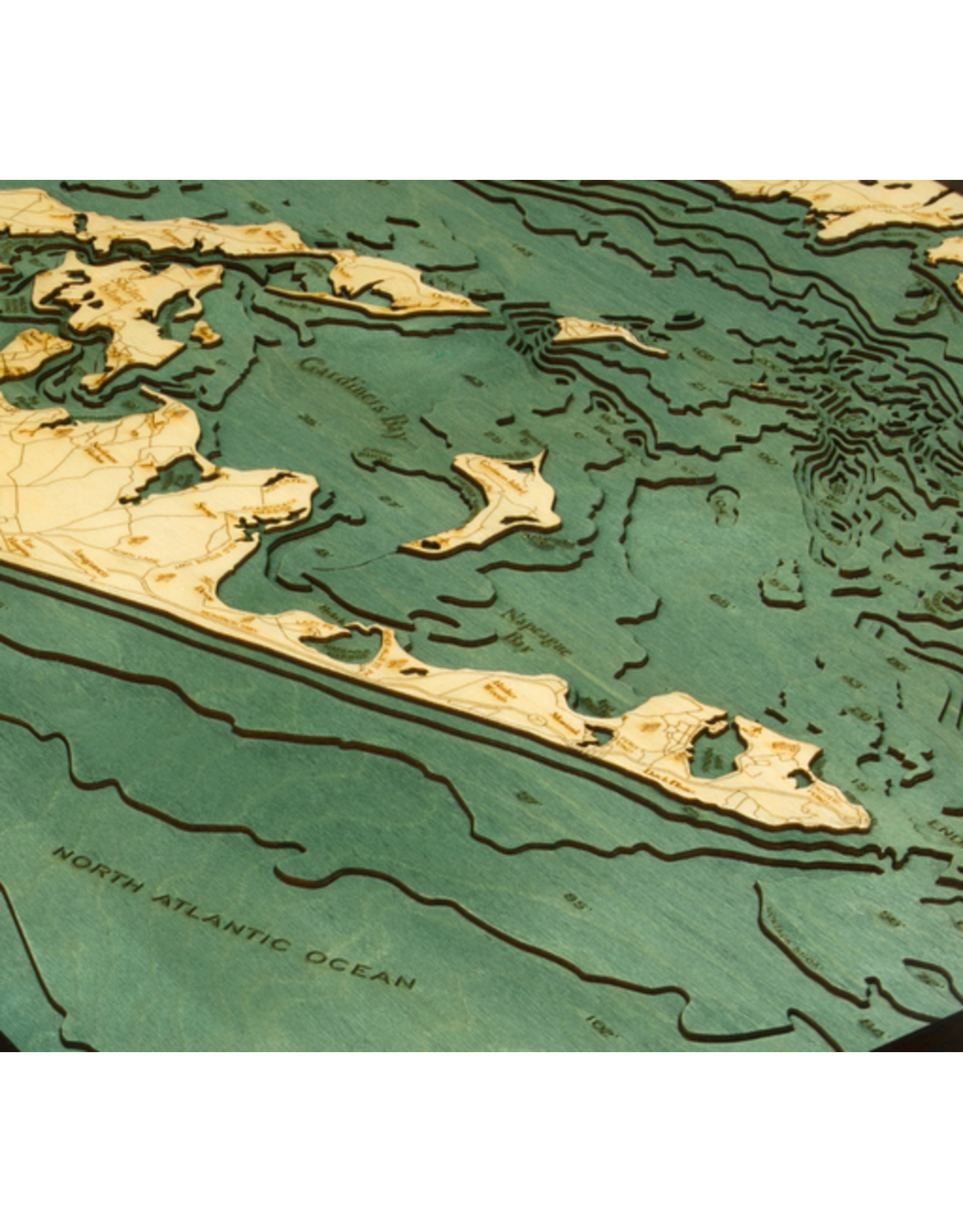 WoodCharts Long Island Sound (EAST, Bathymetric 3-D Nautical WOODCHART)