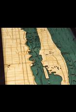 WoodCharts Palm Beach, FL (Bathymetric 3-D Nautical WOODCHART)