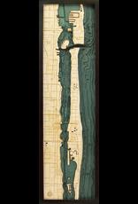 WoodCharts Palm Beach (Bathymetric 3-D Wood Carved Nautical Chart)