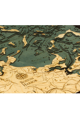 WoodCharts Boston Harbor (Bathymetric 3-D Nautical WOODCHART)