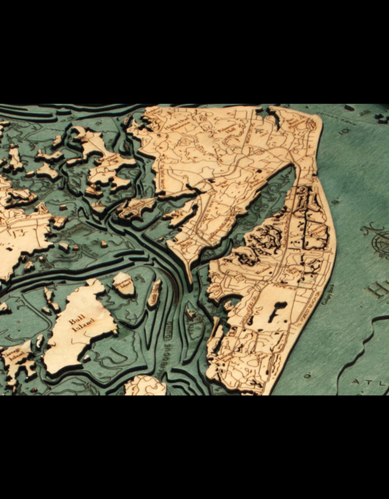 WoodCharts Hilton Head (Bathymetric 3-D Nautical WOODCHART)