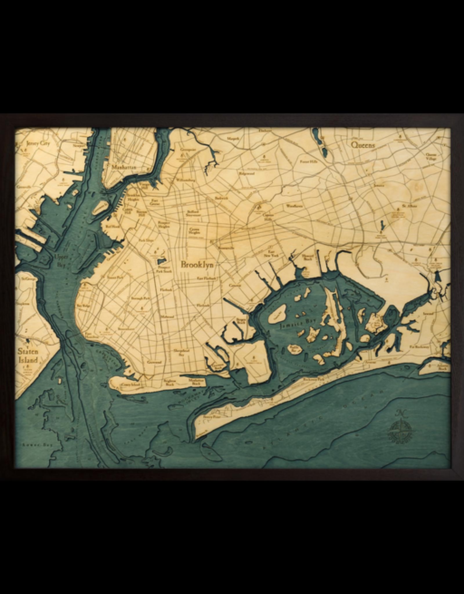 WoodCharts Brooklyn (Bathymetric 3-D Nautical WOODCHART)