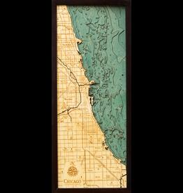 WoodCharts Chicago (Bathymetric 3-D Nautical WOODCHART)