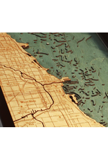 WoodCharts Chicago (Bathymetric 3-D Nautical WOODCHART)