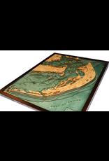 WoodCharts Sanibel Island, FL (Bathymetric 3-D Nautical WOODCHART)