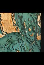 WoodCharts Sanibel Island (Bathymetric 3-D Wood Carved Nautical Chart)