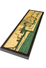 WoodCharts Fort Lauderdale, FL (Bathymetric 3-D Wood Carved Nautical Chart)
