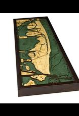 WoodCharts Miami Beach, FL (Bathymetric 3-D Wood Carved Nautical Chart)