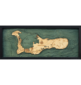 WoodCharts Cayman Island (Bathymetric 3-D Wood Carved Nautical Chart)