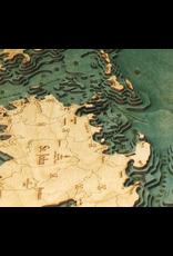 WoodCharts Virgin Islands (Bathymetric 3-D Nautical WOODCHART)