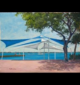 Ruthann Hewson Sails at Riverwalk Stage (Print, Matted, 11x14, RUTH)