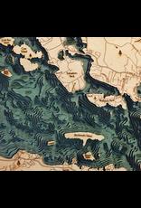 WoodCharts Lake Winnipesauke, NH (Bathymetric 3-D Nautical WOODCHART)