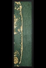 WoodCharts Long Beach Island, NJ (Bathymetric 3-D Wood Carved Nautical Chart)