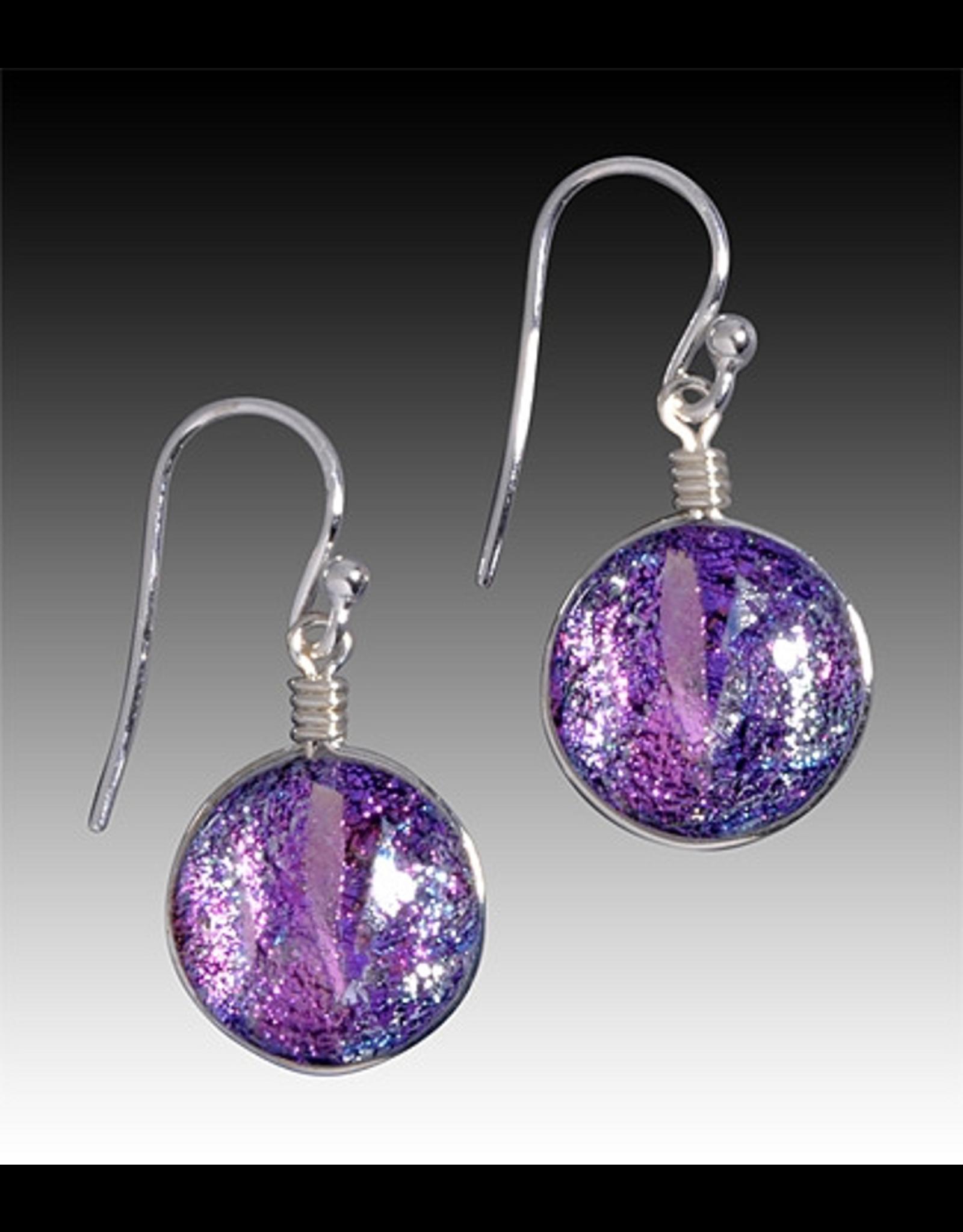 Renaissance Glass VENUS EARRINGS (Dichroic Art Glass, Assorted Colors, #297)