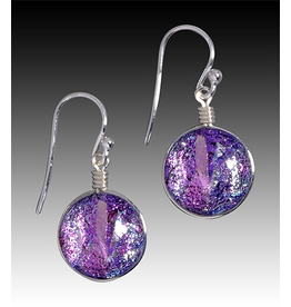 Renaissance Glass VENUS EARRINGS (Dichroic Art Glass, Assorted Colors, #297)