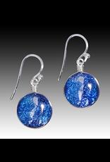 Renaissance Glass VENUS EARRINGS (Dichroic Art Glass, Assorted Colors, #297, FRAT)