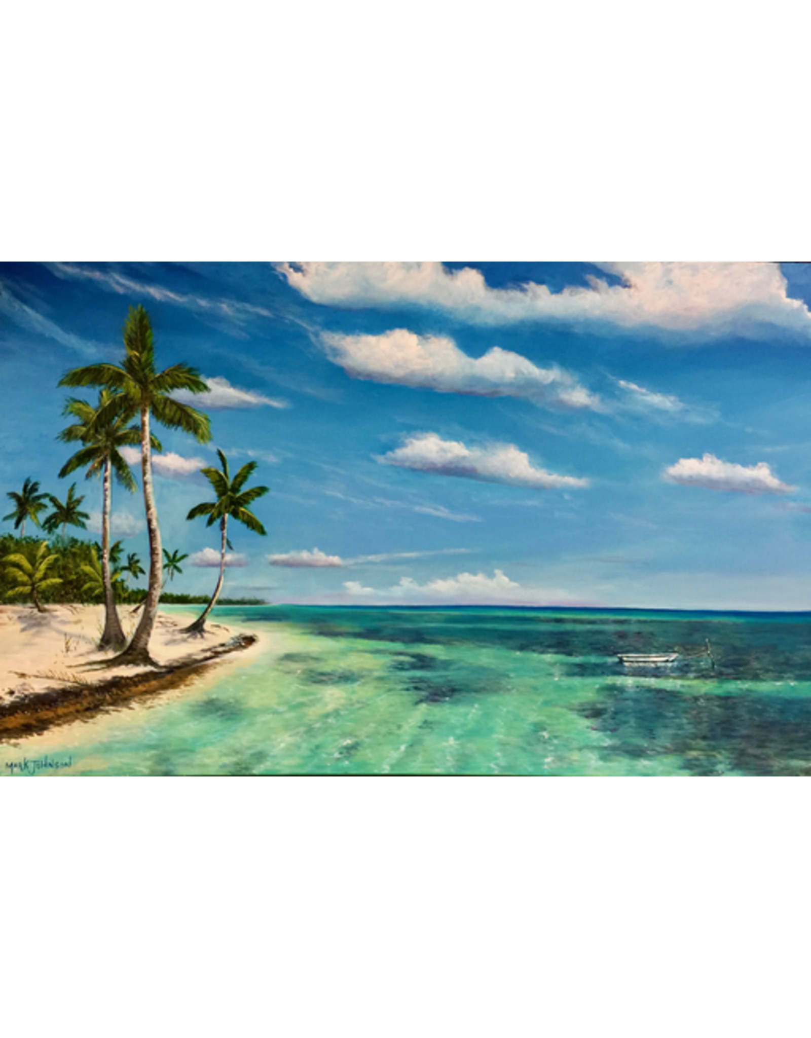 Mark Johnson Tropical Breeze (Original Oil, 30x48, MARJ)
