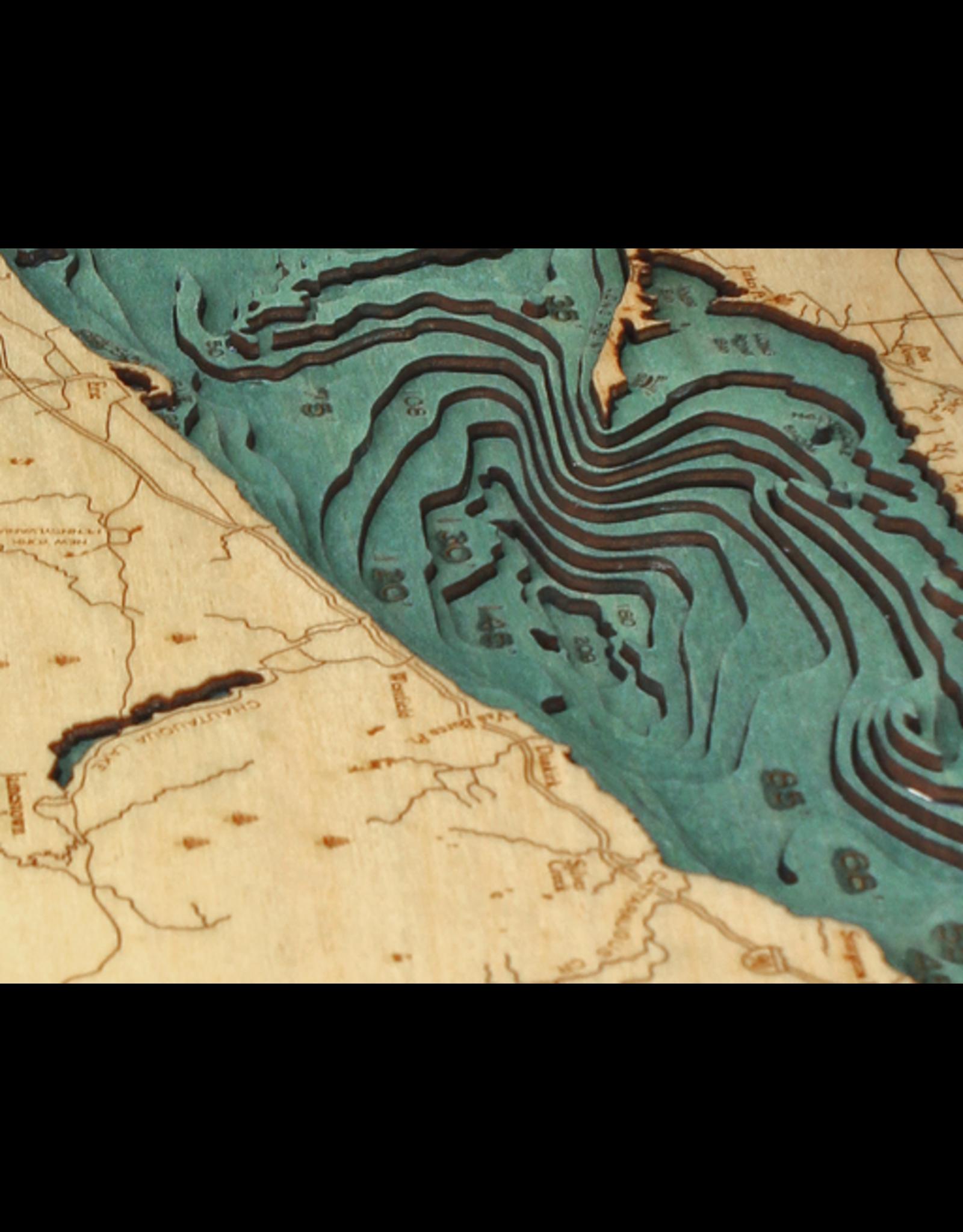 WoodCharts Lake Erie (Bathymetric 3-D Nautical WOODCHART)