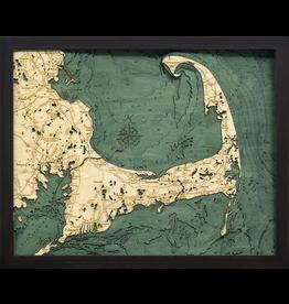 WoodCharts Cape Cod (Sm, Bathymetric 3-D Nautical WOODCHART)