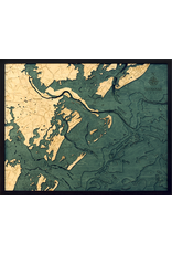 WoodCharts Savannah, GA (Bathymetric 3-D Nautical WOODCHART)