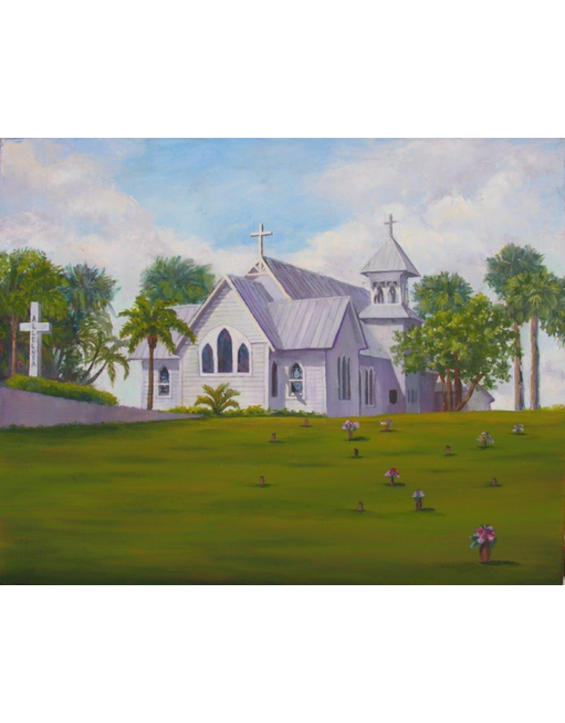 Ruthann Hewson All Saints' Episcopal Church (Print, Matted, 11x14)