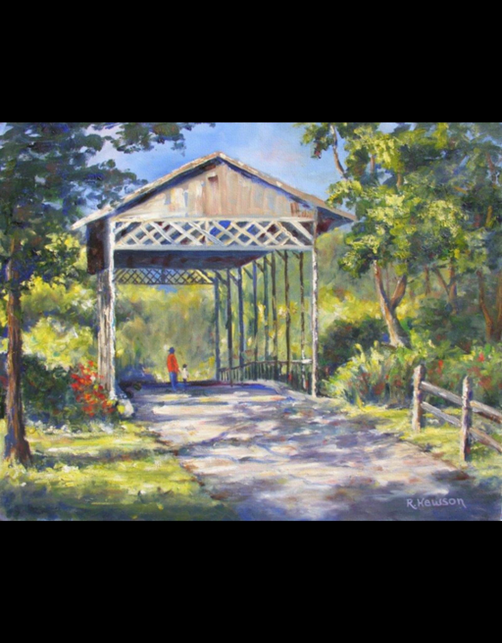 Ruthann Hewson Floridian Covered Bridge (Print, Matted, 11x14, RUTH)