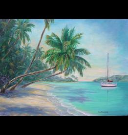 Ruthann Hewson Caribbean Isle (Print, Matted, 11x14, RUTH)