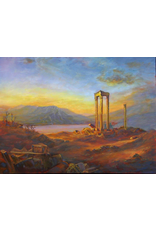 Ruthann Hewson Ruins of Baalbek (copy of Frederic Church Oil, Print, Matted, 11x14, RUTH)