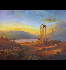 Ruthann Hewson Ruins of Baalbek (copy of Frederic Church Oil, Print, Matted, 11x14, RUTH)