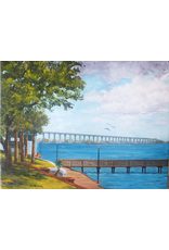 Ruthann Hewson Along the Boardwalk (Original Oil, Framed, 18x24)