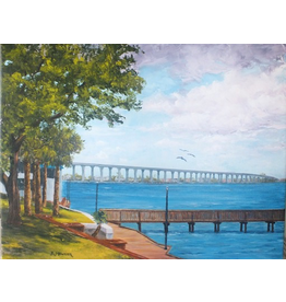 Ruthann Hewson Along the Boardwalk (Print, Matted, 11x14)