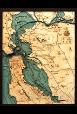 WoodCharts San Francisco / Bay Area (Lg Bathymetric 3-D Nautical WOODCHART)