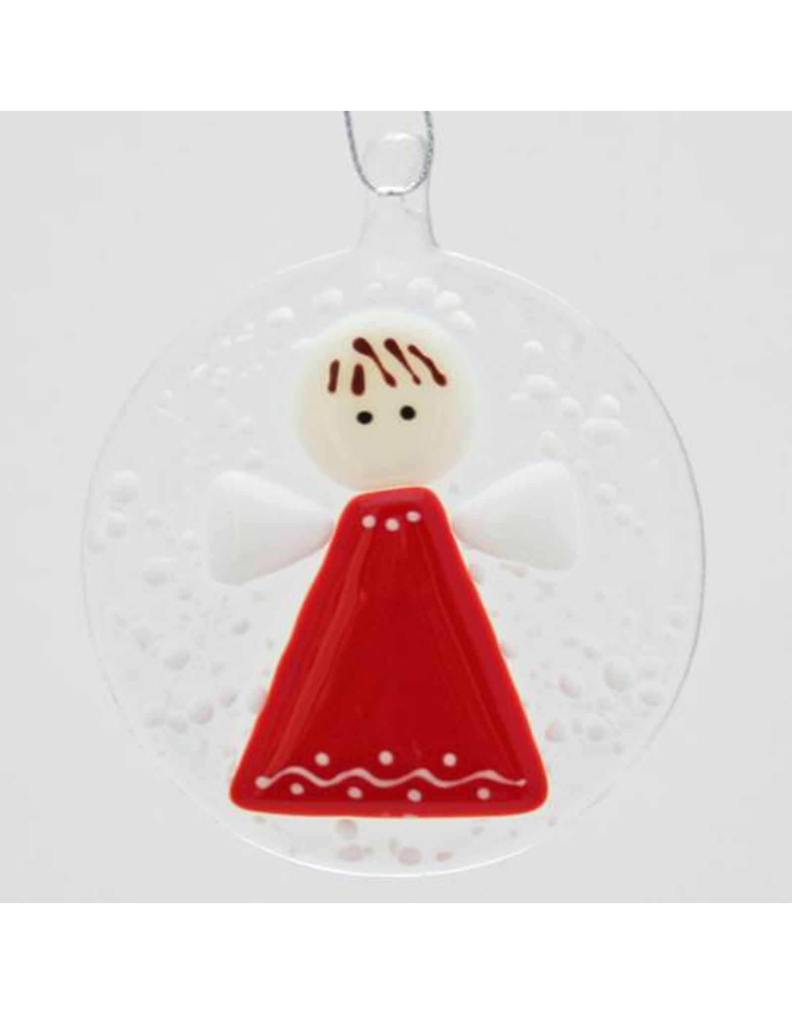 Glassworks Northwest ANGEL (IN SNOWSTORM) ORNAMENT