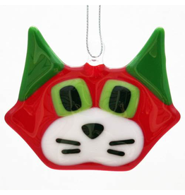 Glassworks Northwest CAT ORNAMENT (KTK)
