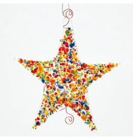 Glassworks Northwest STAR (SPRINKLE) ORNAMENT