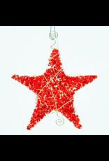 Glassworks Northwest STAR (SPRINKLE) ORNAMENT