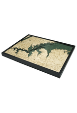 WoodCharts Long Island Sound (WEST, Bathymetric 3-D Nautical WOODCHART)
