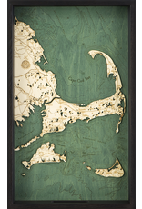 WoodCharts Cape Cod (TRAY, Bathymetric 3-D Nautical WOODCHART)