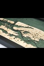 WoodCharts St. Augustine, FL (Bathymetric 3-D Nautical WOODCHART)