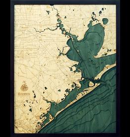 WoodCharts Houston (Bathymetric 3-D Nautical WOODCHART)