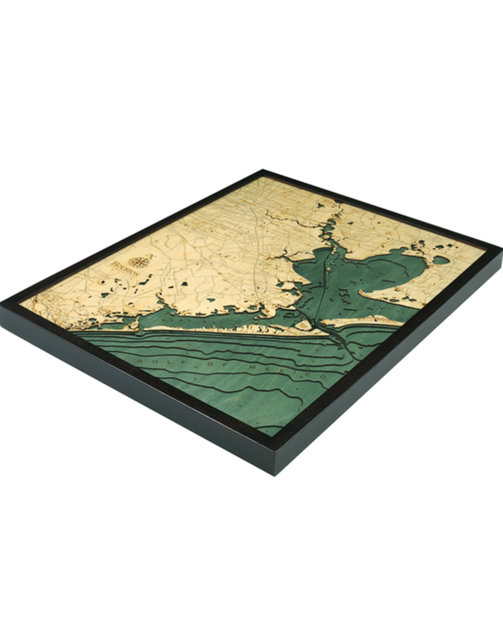 WoodCharts Houston (Bathymetric 3-D Nautical WOODCHART)